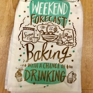 Weather Forecast Drinking Towel